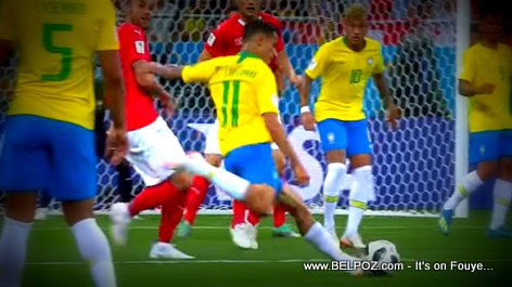2018 FIFA World Cup Highlights... Philippe Coutinho (Brazil) lining up for the shot