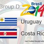Groupe Uruguay vs Costa Rica